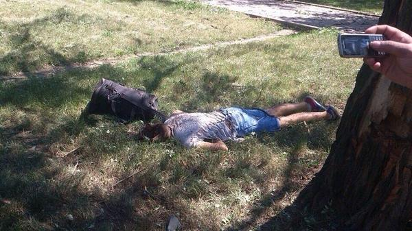 A lot of civilians killed by Militants in Horlivka