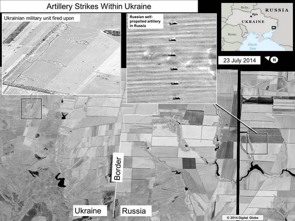 USA has published satellite images of Russian shelling of Ukraine