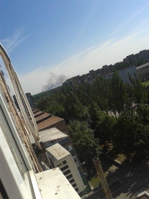Saur-Mohyla under shelling