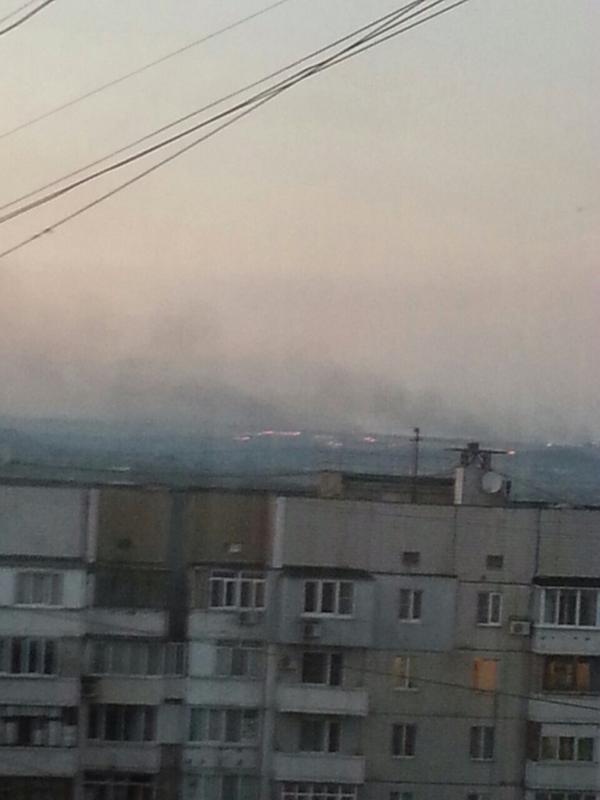 Yasinovatsky checkpoint is burning in Donetsk