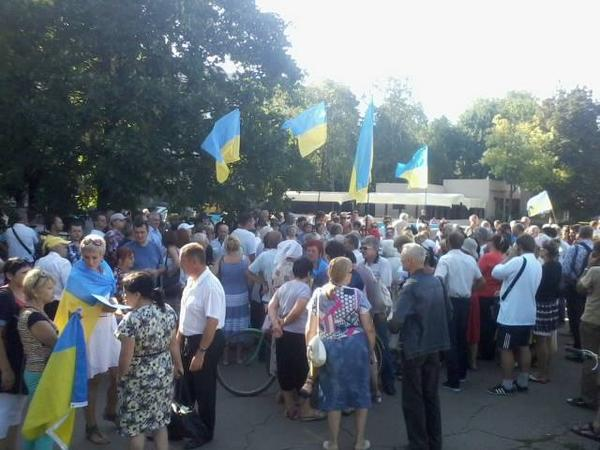 People demanded to disband the city Council In Slavyansk