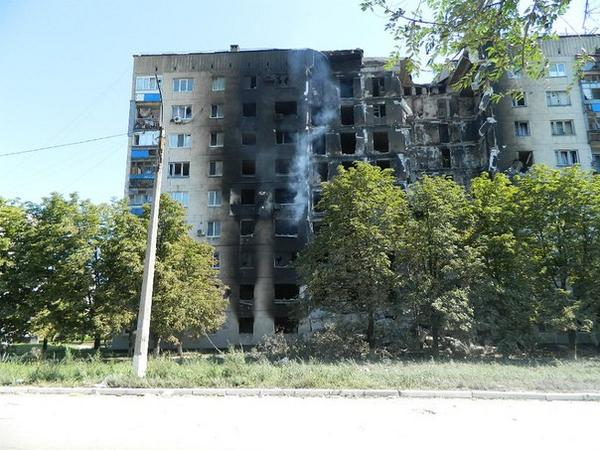 Appratment block in Lysichansk