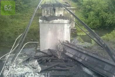 Militants blew up two bridges in the Donetsk region