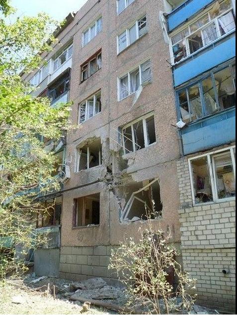 Destruction in Pervomaisk