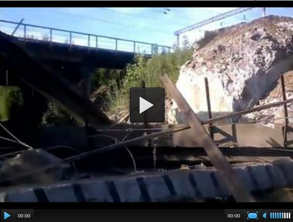 One more bridge was blowned-up in Horlivka