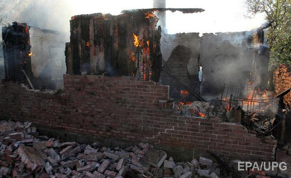 Consequences of bombardment of Horlivka