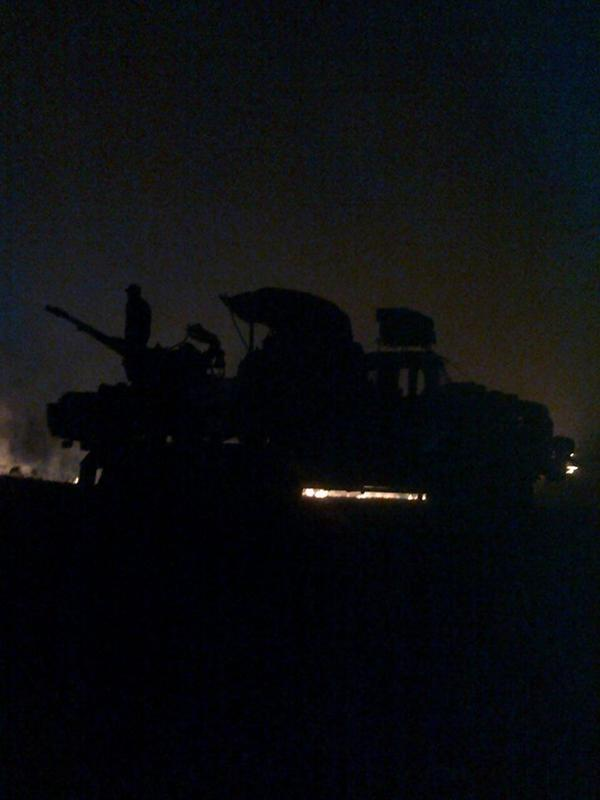 Night shelling from the Russia