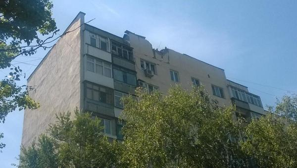 Shell hit Residential apartments in Donetsk