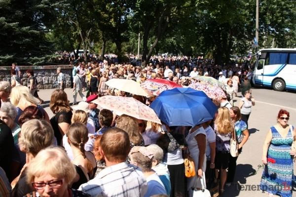 Lots of people came to the funeral of Kremenchuk mayor Oleg Babayev