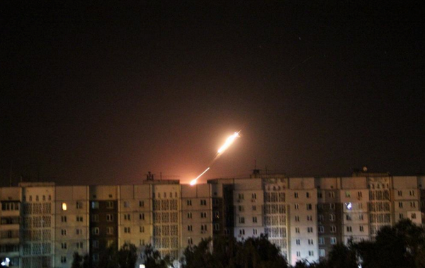 Missile launch in Donetsk