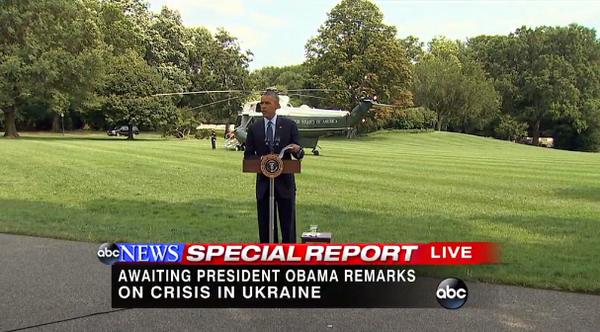 Obama: Since shootdown Russian proxies in Ukraine have interfered in crash investigation