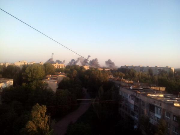 Airstrike in Krasnyy Luch