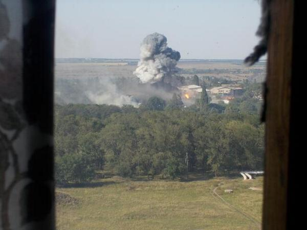 Outskirts of  Shakhtars, Ukrainian vehicles ambushed