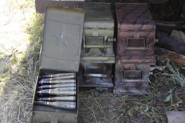 Military discovered a cache of weapons and ammunition In Semenovka