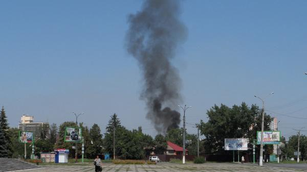 Terrorists are shelling Luhansk