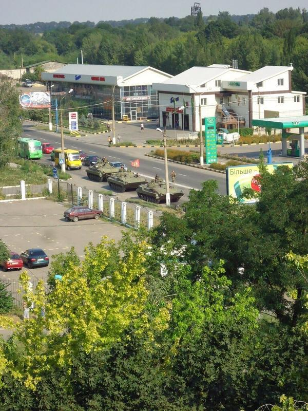 Militants Tanks in Makiivka