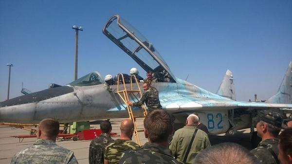 The second Mig-29 jet from Belbek is restored