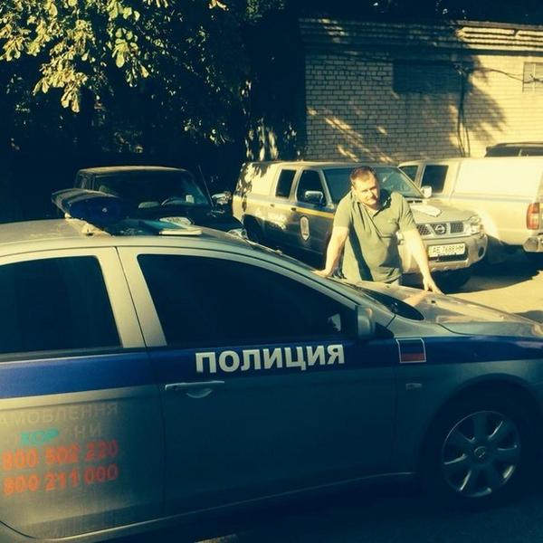 Special forces of Dnipropetrovsk captured DNR police car