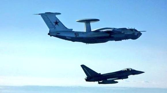 Lithuania based NATO Polish fighter jets Mig-29 escort Russia(n) aircraft above Baltics