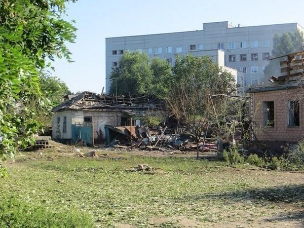 Destruction in Luhansk