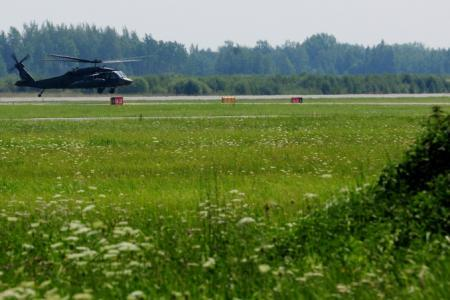 U.S. Army UH-60 Black Hawk helicopter at Siauliai Air Base