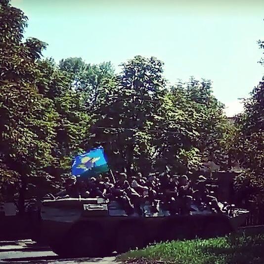 Militants convoy in Luhansk