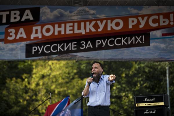 Crazy Dugin calls for war against Ukraine, crowd of sheeple bleats approvingly