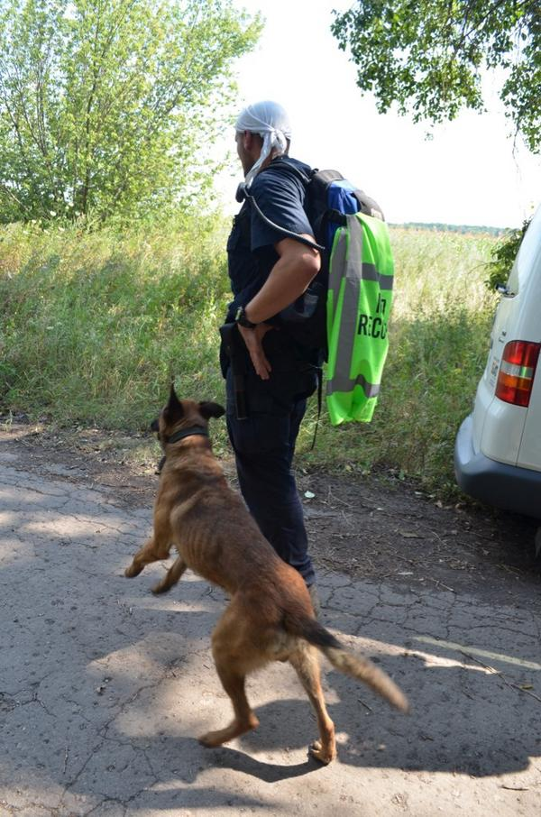 Spencer 1 of 2 Dutch detector dogs working MH17 site, assisting experts victim remains recovery. More dogs to come