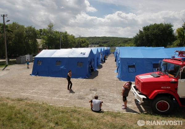 Russia has deployed another 48 temporary camps for Ukrainian refugees
