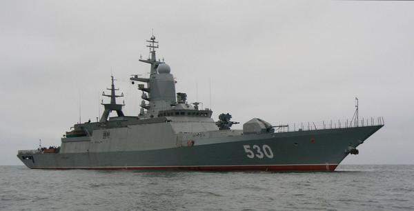 Russian navy near Latvia shores