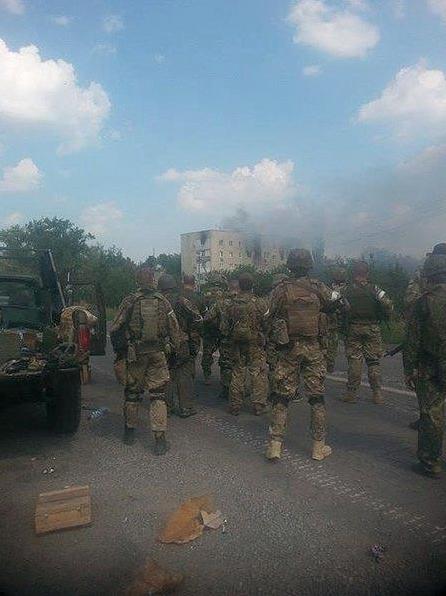 Battalion Azov & Shahtarsk are entering Donetsk