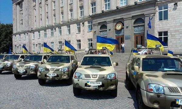 New cars for Ukrainian battalions