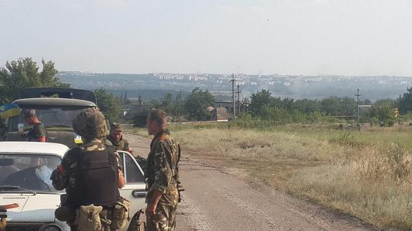 The battalion Aidar comes. Luhansk Krasnyy Yar