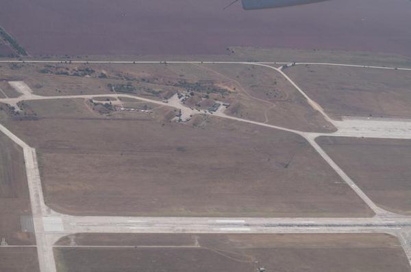 Recent Air Photos of Gvardiyske Air Base Crimea shows Russian S-300 Airdefense Missile unit via eagle-rost