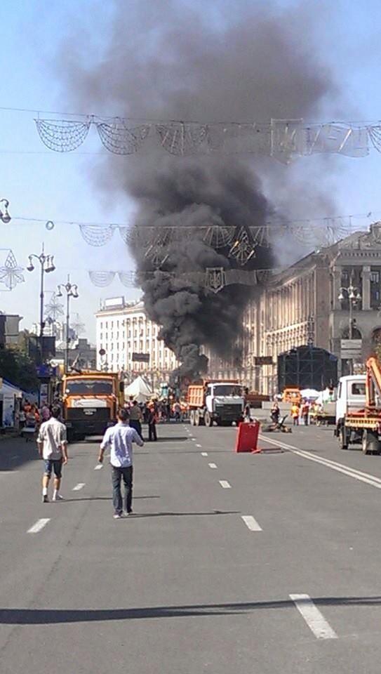 Maidan in Kyiv is on fire