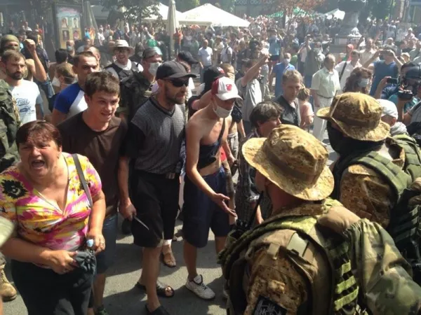 Clashes on the Maidan. Seems that Titushki moved here