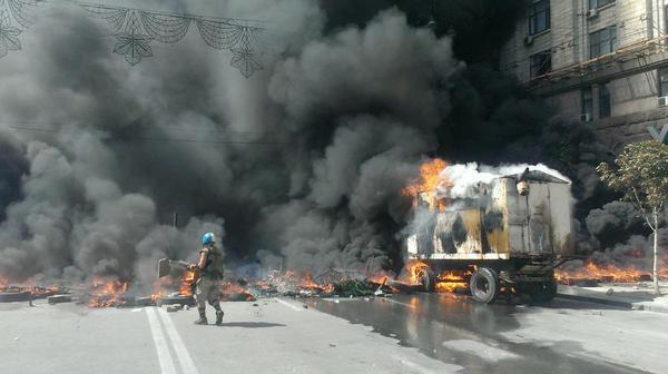 Very hot at the Maidan