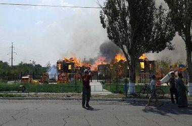 Cathedral is burning in Horlivka