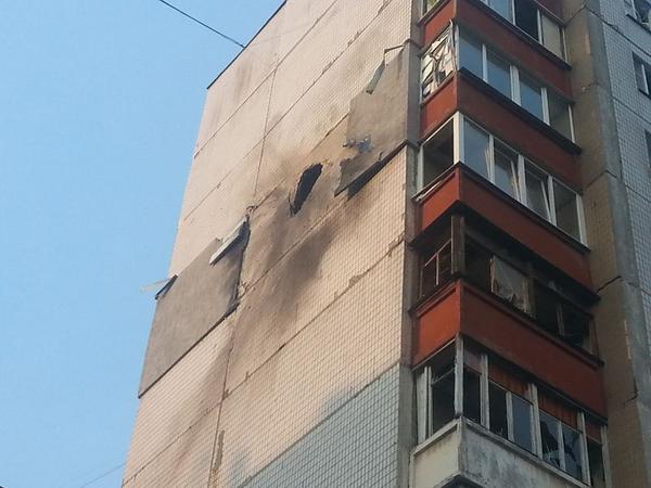 Donetsk Shell hit residential house