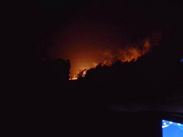 Gas pipeline is burning now near Yenakijeve