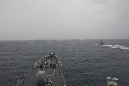 Joint exercises in the Black Sea: USS Vella Gulf with Turkish Navy