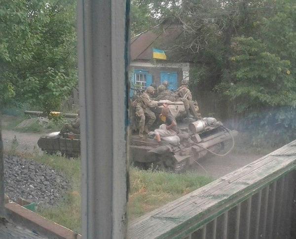 Ukrainian tanks in Miusinsk
