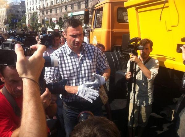 Mayor of Kyiv Klitschko at the Maidan