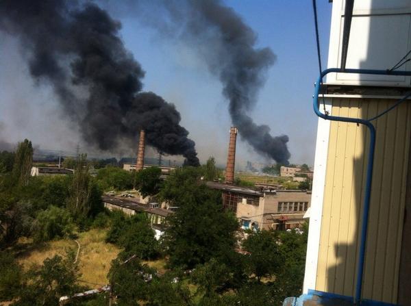 Fires in Horlivka