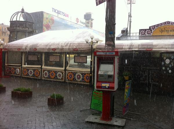 Shower rain in Kyiv against any fire