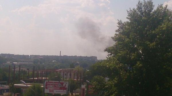 Fire near railway station in Donetsk