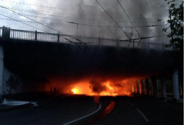 Car exploded in Moscow