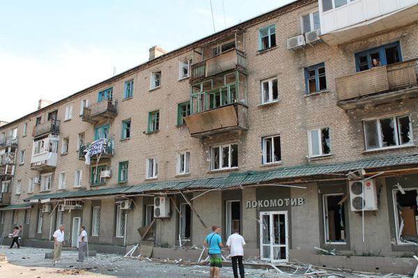 Shells hit residential house in Yasynuvata