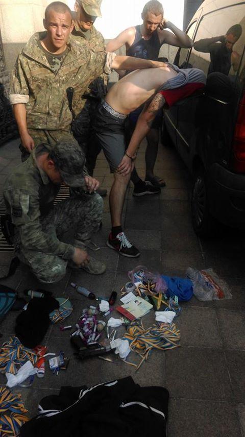 Militia detained provocateur near Verkhovna Rada of Ukraine