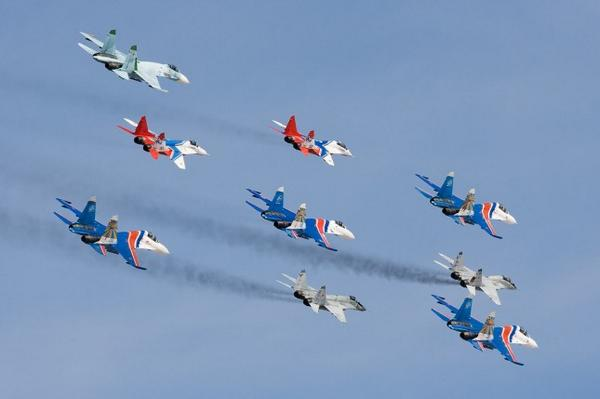 Russian knights were not allowed to participate in the Airshow in Switzerland